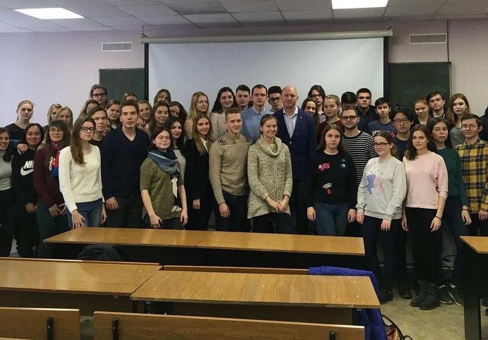Встреча студентов  с председателем Совета директоров ГК